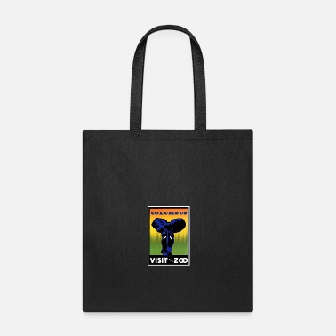 Zoo Vintage Elephant Visit The Zoo Columbus - Tote Bag