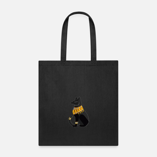 Hieroglyphics Bags & Backpacks - cat hieroglyphic - Tote Bag black