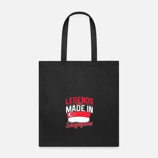 Workspace Bags & Backpacks - Legends Are Made In Singapore - Tote Bag black