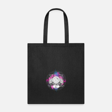Rave Techno New Wave Speaker Squid Cloud EDM Music Tee - Tote Bag