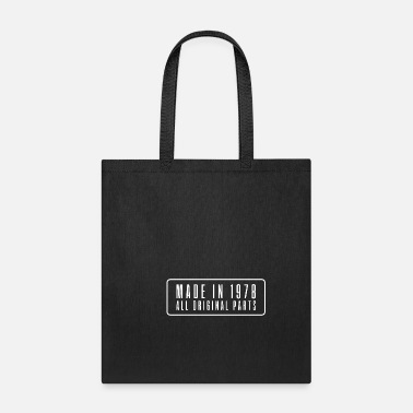 Date Of Birth Made in 1978 birthday present date year of birth - Tote Bag