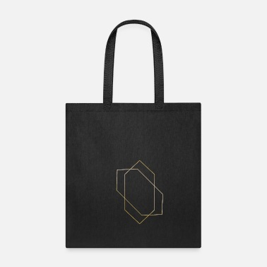 Symbols & Shapes Hexagon Gold symbols shapes gift hipster sign - Tote Bag