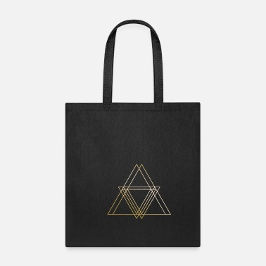 Symbols & Shapes Triangle Gold symbol shapes gift hipster geometric - Tote Bag