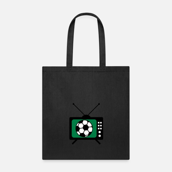 Sport Climbing Bags & backpacks - football tv watch sport play club team fan tv scre - Tote Bag black
