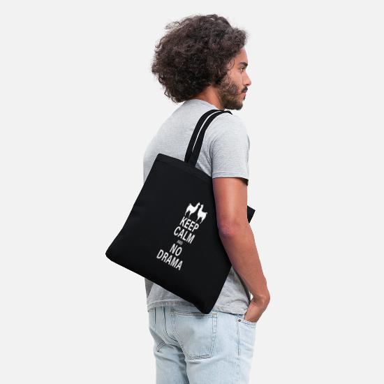 458e8a6f5101 Keep Calm and No Drama Llama Tote Bag | Spreadshirt