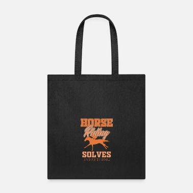 Horseman Horse horses riding riders equestrian gift idea - Tote Bag