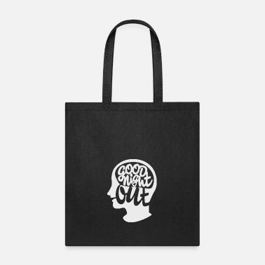 Good Night White Good Night Out logo white - Tote Bag