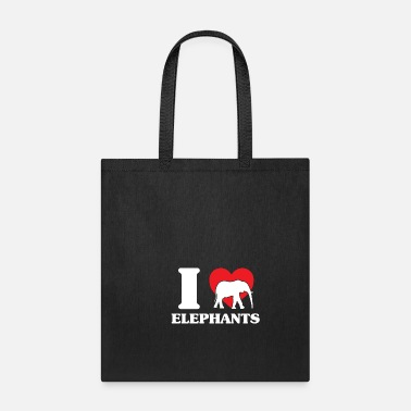 Thick Elephant heat flock water family - Tote Bag