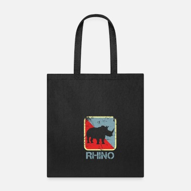 Rhinoceros Rhino Endangered Leather Family - Tote Bag