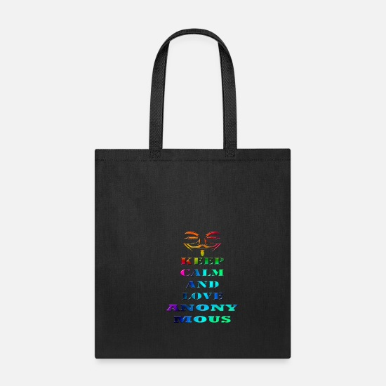 Virtual Bags & Backpacks - Anonymous - Tote Bag black