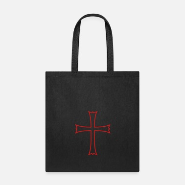 Silhouette silhouette crusader church symbol cross jesus chri - Tote Bag