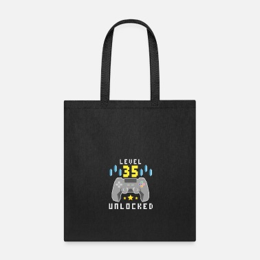 Esports Level 35 Unlocked - 35th Birthday Gift Design - Tote Bag