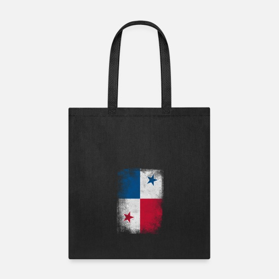 Panamanian Bags & backpacks - Panama Flag Proud Panamanian Vintage Distressed - Tote Bag black