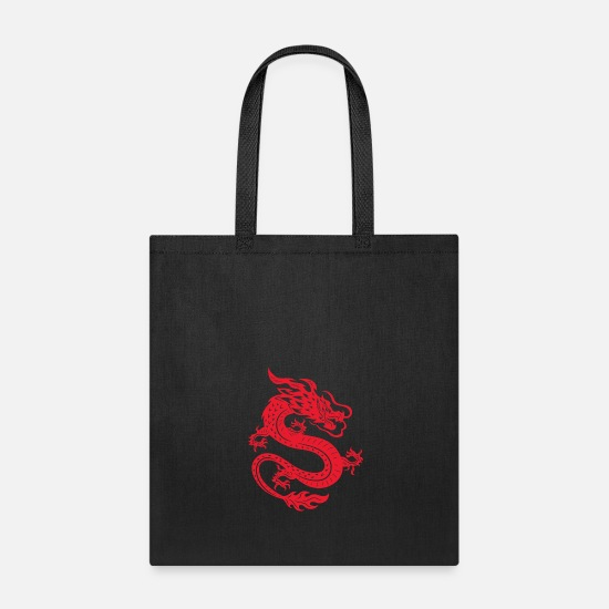 1a1fe0d35be7 Chinese dragon wildlife vector image illustration Tote Bag   Spreadshirt