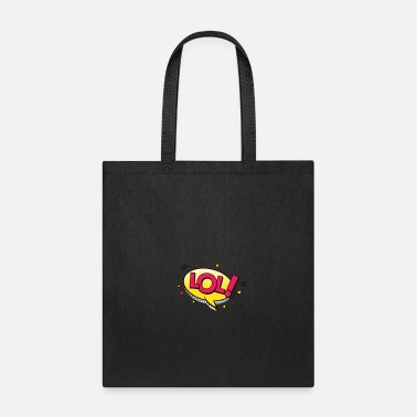 Laughing Of Loud LOL, laugh laughing out loud, cartoon comic bubble - Tote Bag