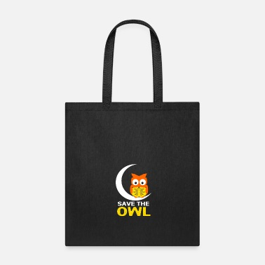 Owl Owl Night Nocturnal Bird Cuckoo Ornithology Forest - Tote Bag