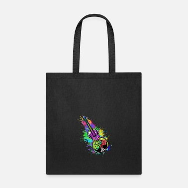 Splatter Cello Double Bass Music Teacher Symphony Violin - Tote Bag