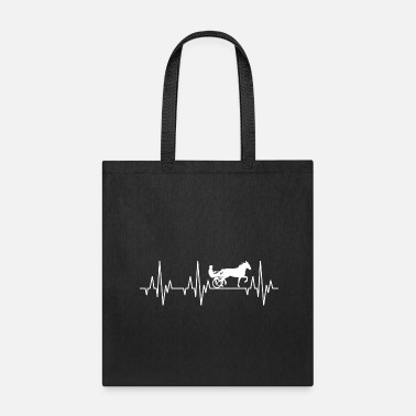 Equitation Heartbeat Horses Riding Harness Racing Equitation - Tote Bag
