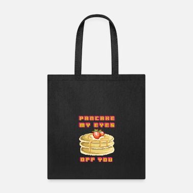 Gamer Pancake my eyes off you, funny 90's 80's pixel gam - Tote Bag