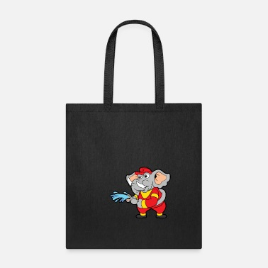 Boy Firefighter Elephant - Tote Bag