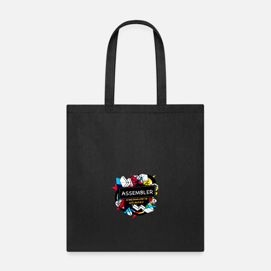 News Bags & Backpacks - ASSEMBLER - Tote Bag black