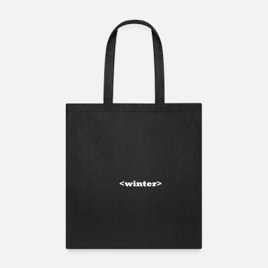 Tag Start of Winter as a HTML tag (black) - Tote Bag