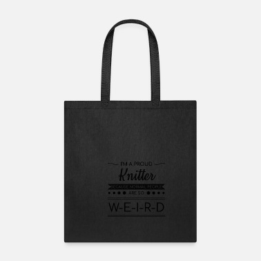 Wool Proud Knitter Funny Knitting Quotes Wool Yarn Gift - Tote Bag