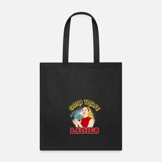 Retro Bowling T-Shirt: Grab Those Balls Ladies Tote Bag | Spreadshirt