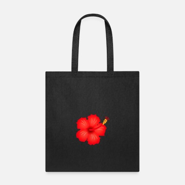 Blume hibiscus exotic flower bloom plant glora gift - Tote Bag