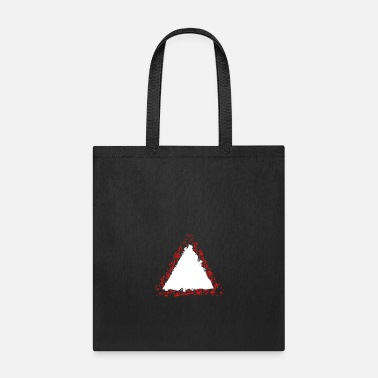 Name warning sign border outline triangle shape symbol - Tote Bag
