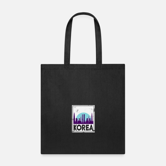 Birthday Bags & Backpacks - North Korea South Korea Asia Gift Korea - Tote Bag black