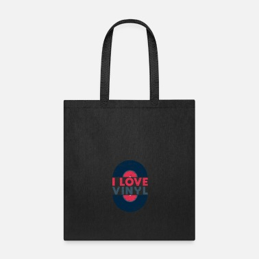 Record I Love Vinyl gift Christmas present kids retro - Tote Bag