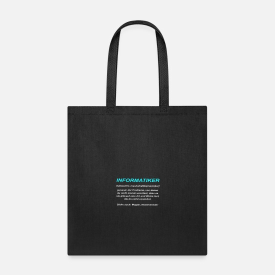 Sarcasm Bags & Backpacks - Computer (definition) - Tote Bag black