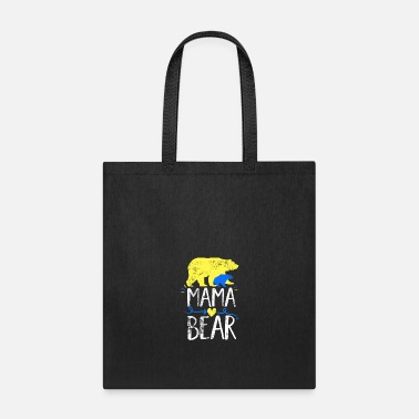 Clan Mama Bear design Down Syndrome Awareness For Moms - Tote Bag