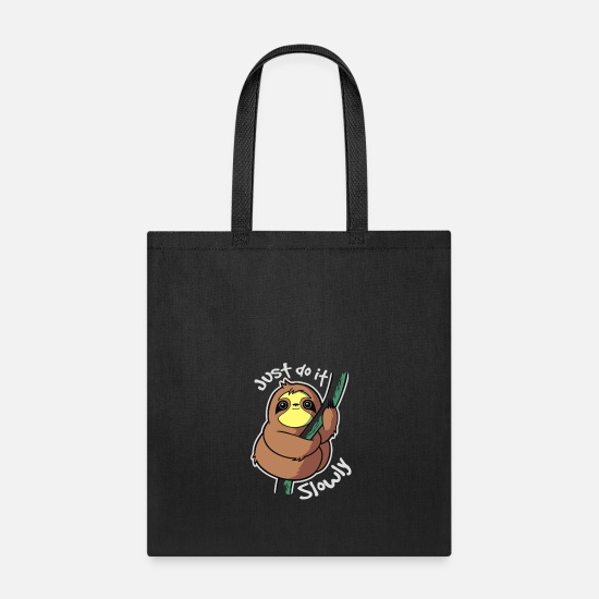Sloth Bags & Backpacks - Slow Sloth - Tote Bag black