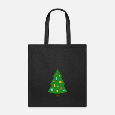 Spruce Christmas tree spruce New Year funny vector image - Tote Bag