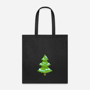 Spruce Christmas tree fun spruce New Year vector image - Tote Bag