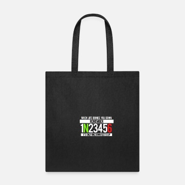 Motto One down. Rest is Up. Motivational Gift Item. - Tote Bag