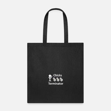Stick Figure Chicks Terminator - Stick Figure - white - Tote Bag