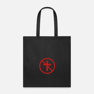 Heaven zone forbidden sign sign symbol no cross god belie - Tote Bag