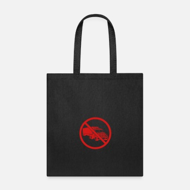 Truck Driver zone sign danger caution note warning caution fron - Tote Bag