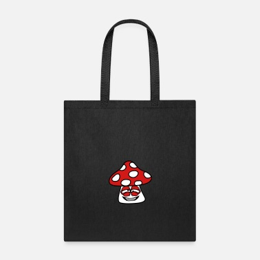 Fly mushroom fly agaric spots forest crazy insane face - Tote Bag