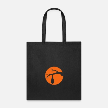 Asterisk night tree branch round circle mind horror hallowe - Tote Bag