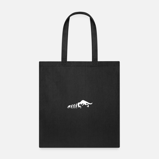 Gift Idea Bags & backpacks - Dinosaur Evolution Funny Dino Animal T-Shirt - Tote Bag black