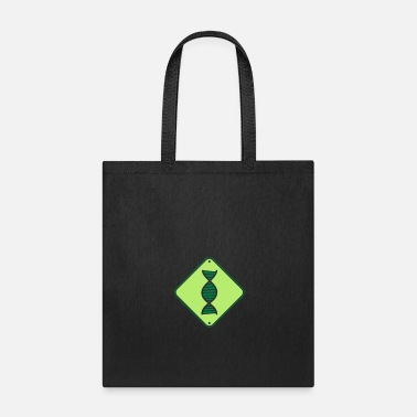 Shield warning dna note shield researcher science gene sp - Tote Bag
