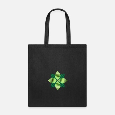 Blume green nature beautiful pretty flower leaves stripe - Tote Bag
