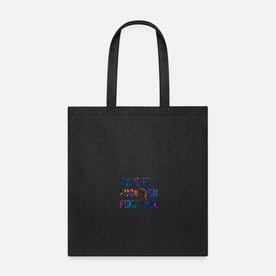 Crazy Bags & Backpacks - FUCK HIM - Tote Bag black