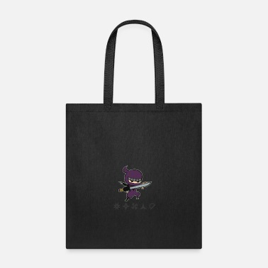 Ninjutsu various weapons ninja - Tote Bag