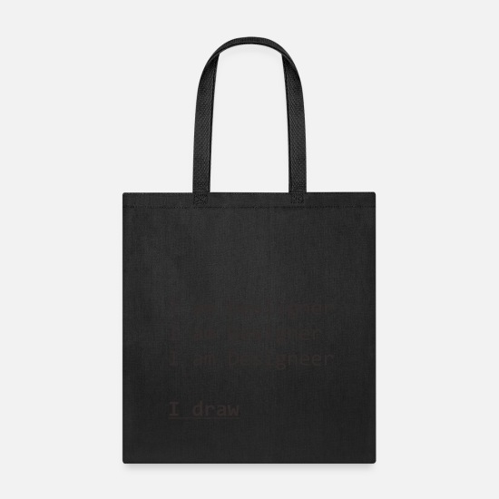 Draw Bags & Backpacks - draw - Tote Bag black