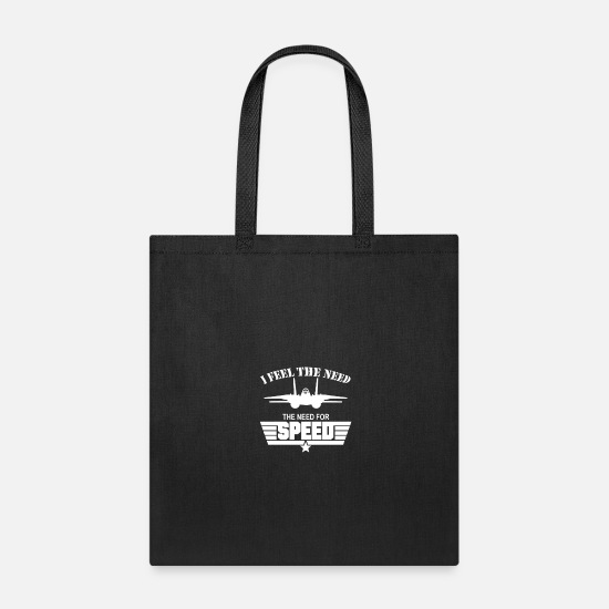 Speed Metal Bags & Backpacks - I Feel the Need The Need For Speed - Tote Bag black